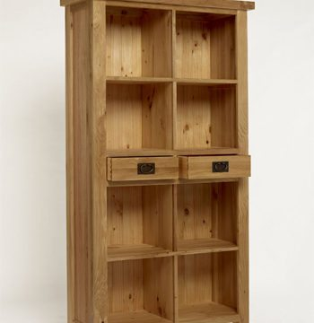 Provence Oak Bookcase 2 Drawers