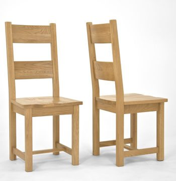 Provence Oak Dining Chair Timber Seat PAIR