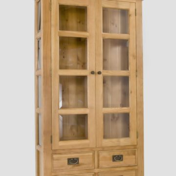 Elegance Oak Large Display Cabinet