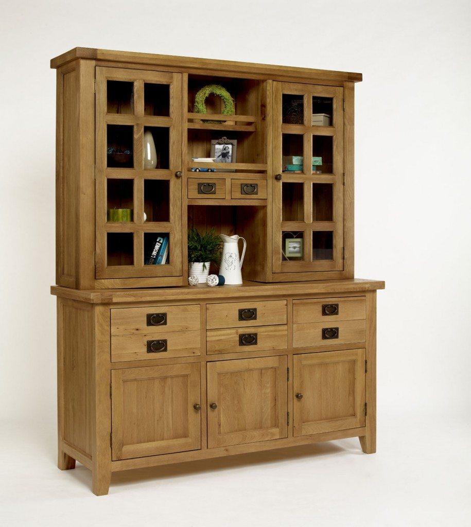 Provence Oak Glazed Dresser Hutch Top
