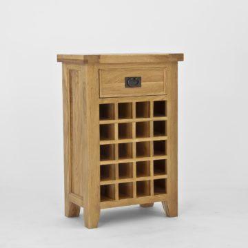 Elegance Oak Wine Cabinet