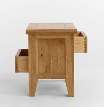 Elegance Oak 2 Drawer Lamp Table
