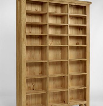 Elegance Oak Large CD DVD Unit