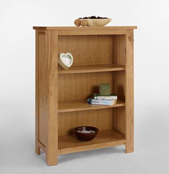 Lansdown Oak Bookcase 2 Shelves
