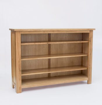 Lansdown Oak Low Bookcase