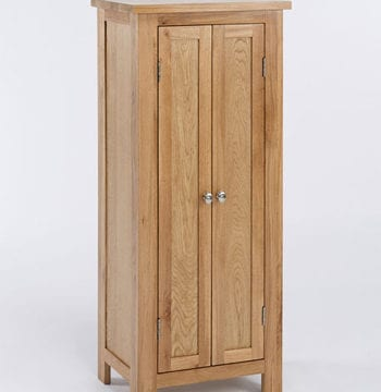 Lansdown Oak Tall Storage Cupboard Hall Cabinet