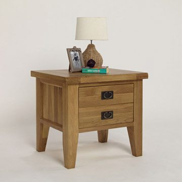 Provence Oak 1 Drawer Lamp Table