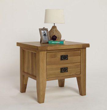 Provence Oak 1 Drawer Lamp Table