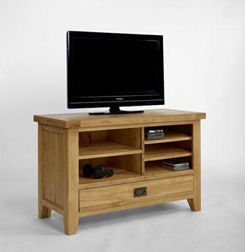 Provence Oak 1 Drawer Small TV Video Unit