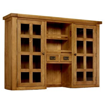 Provence Oak Glazed Dresser Hutch Top