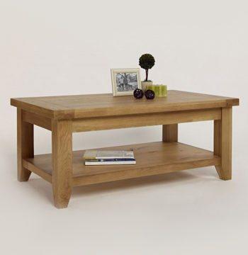 Provence Oak Rectangular Coffee Table Plus Shelf