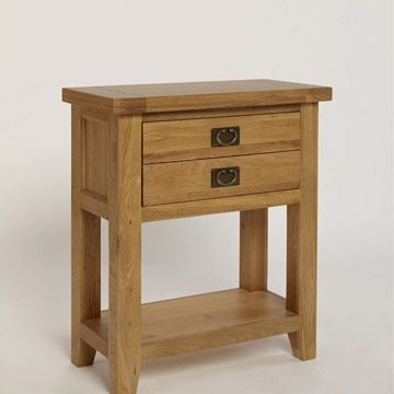 Provence Oak Small Console Table 1 Drawer 1 Shelf