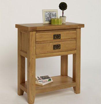 Provence Oak Small Console Table 1 Drawer 1 Shelf
