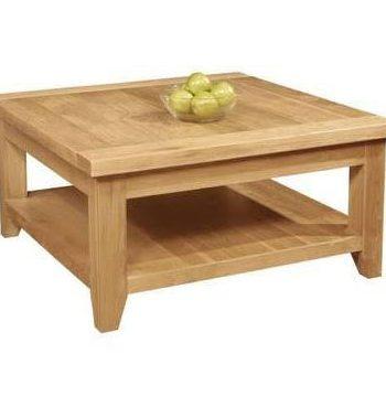 Provence Oak Square Coffee Table Plus Shelf