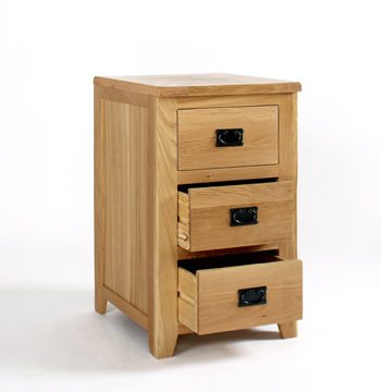 Westbury Reclaimed Oak 3 Drawer Office Cabinet
