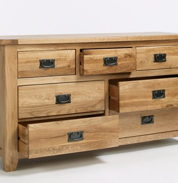 Westbury Reclaimed Oak 3 Over 4 Drawer Wide Chest