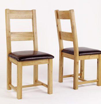 Westbury Reclaimed Oak Dining Chair PAIR