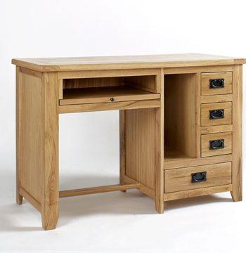 Westbury Reclaimed Oak Single Pedestal Desk