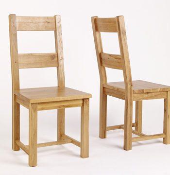 Westbury Reclaimed Oak Timber Dining Chair PAIR