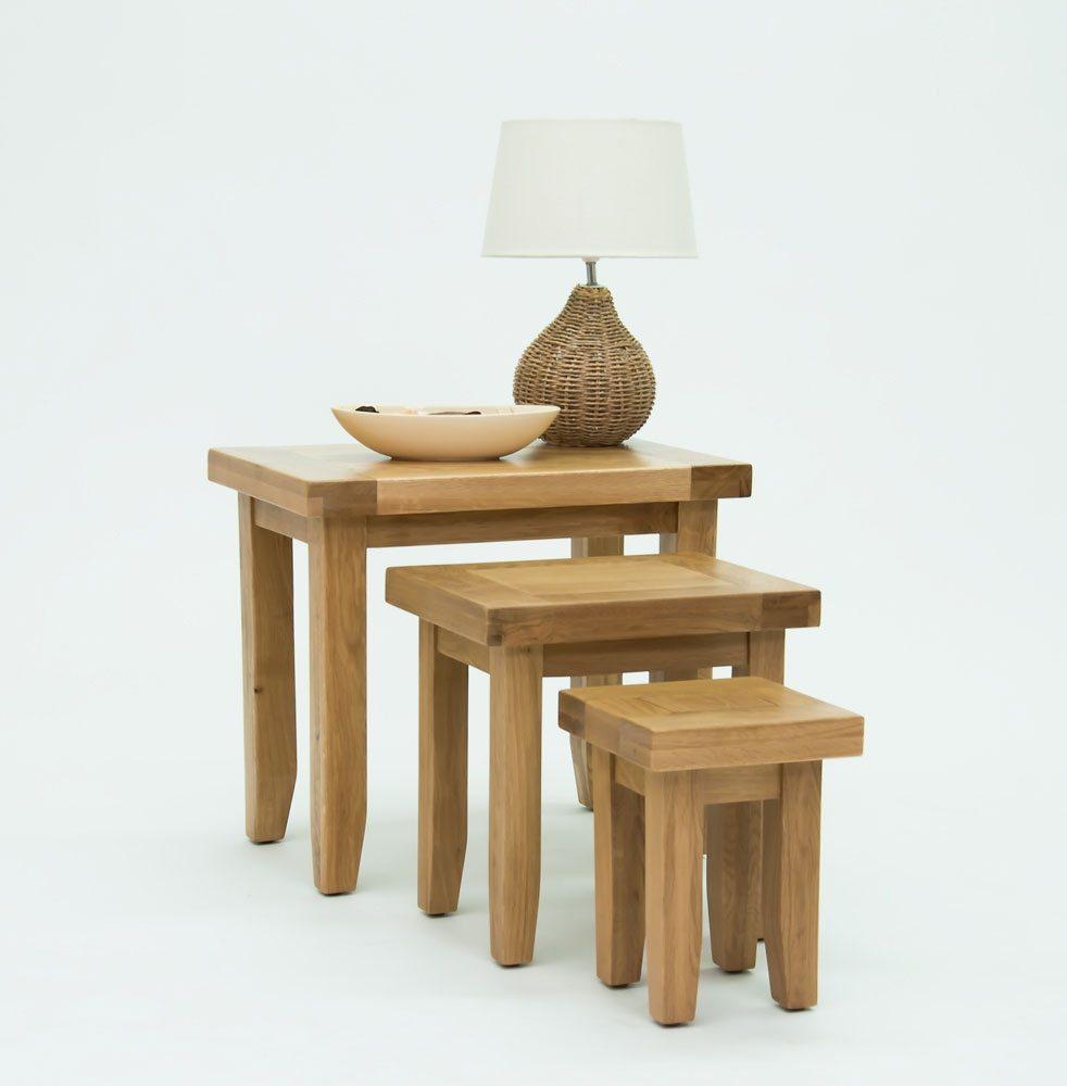 Devon Oak Nest of Tables
