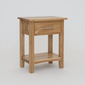 Hereford Oak 1 Drawer Bedside Cabinet
