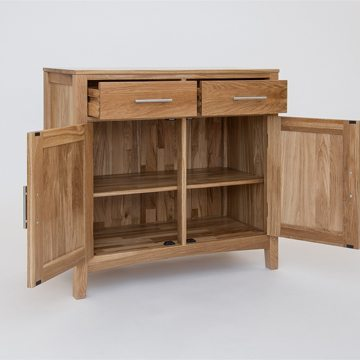 Hereford Oak 2 Door Sideboard Base 2