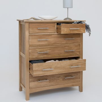 Hereford Oak 2 Over 4 Drawer Chest 2