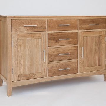 Hereford Oak 3 Door Sideboard Base 1