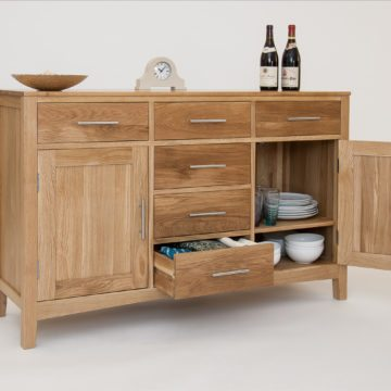 Hereford Oak 3 Door Sideboard Base