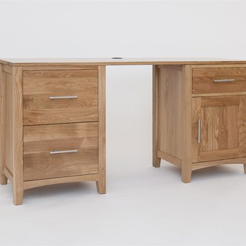 Hereford Oak Double Pedestal Desk 1