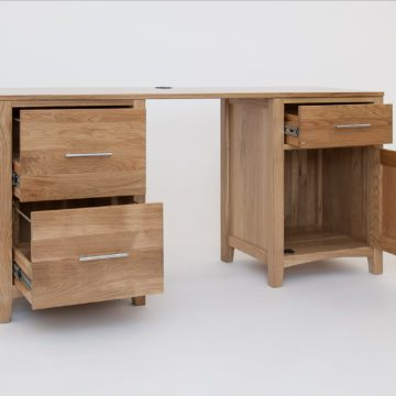 Hereford Oak Double Pedestal Desk