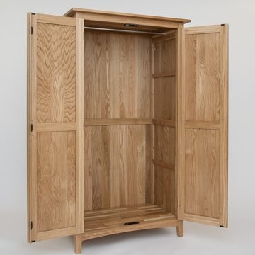 Hereford Oak Full Hanging Wardrobe 2