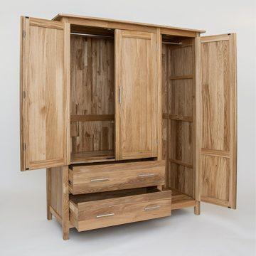 Hereford Oak Three Door Gents Wardrobe 2