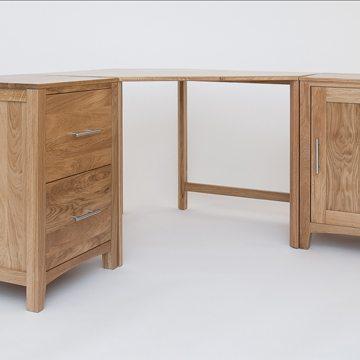 Hereford Oak Wide Corner Desk 2