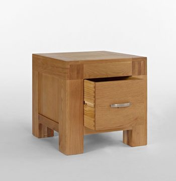 Santana Blonde Oak 1 Drawer Lamp Table