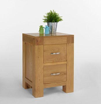 Santana Blonde Oak Bedside Cabinet