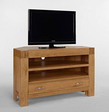 Santana Blonde Oak Corner TV Unit