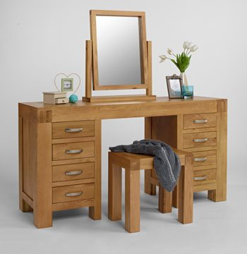 Santana Blonde Oak Dressing Table