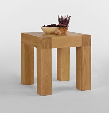 Santana Blonde Oak Lamp Table
