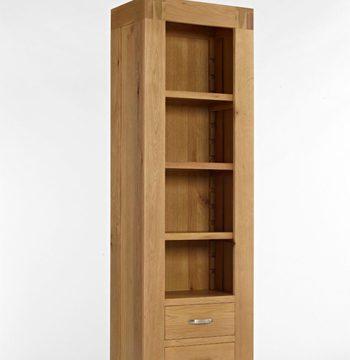 Santana Blonde Oak Slim Bookcase