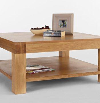 Santana Blonde Oak Square Coffee Table
