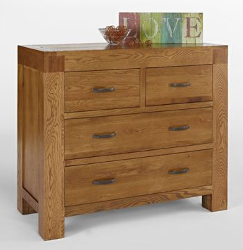 Santana Rustic Oak 2 Over 2 Drawer Chest