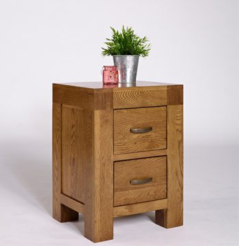 Santana Rustic Oak Bedside Cabinet