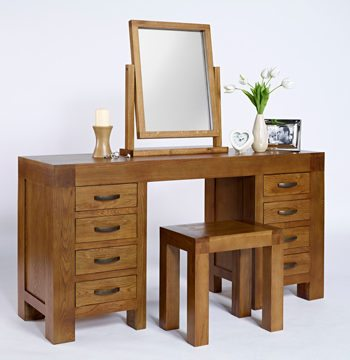 Santana Rustic Oak Dressing Table