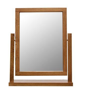 Santana Rustic Oak Dressing Table Mirror