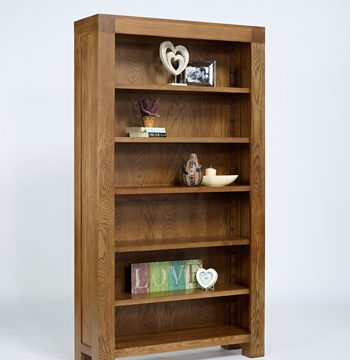 Santana Rustic Oak Full Bookcase