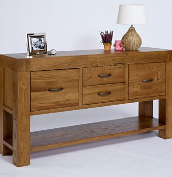 Santana Rustic Oak Hall Table
