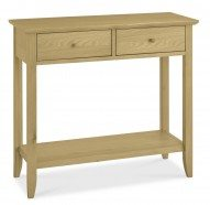 Shaker Oak Console Table With Drawer