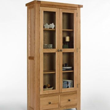 Devon Oak Glazed Display Cabinet
