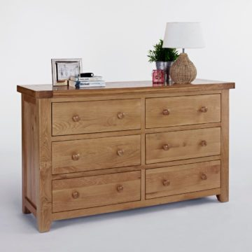 Devon Oak 3 x 3 Chest of Drawers